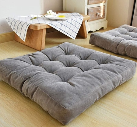 floor cushions are a great replacement for couches and sofas, especially for young adults and children