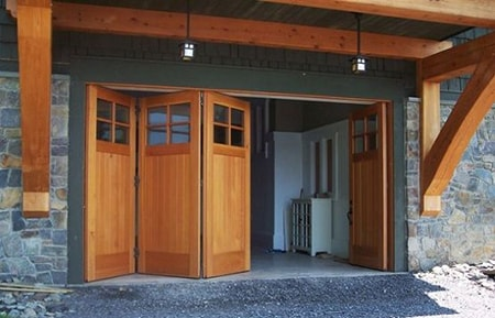 folding garage doors look awesome but don't really offer any other benefit over the other alternatives
