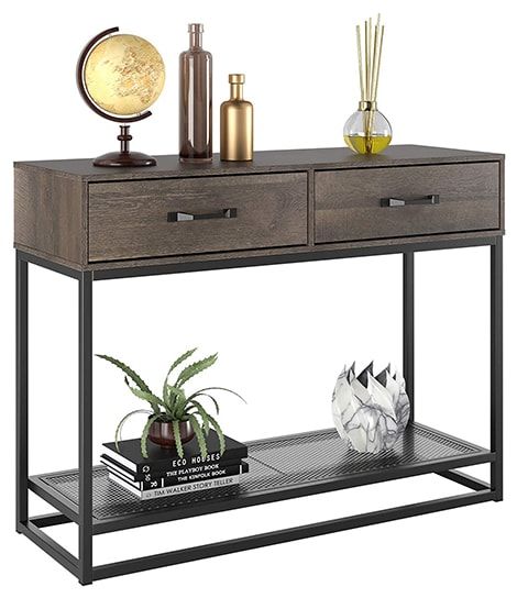 hallway desks are not deep, but stand tall and are meant to be placed in hallways or near the entryway of the home or behind a sofa
