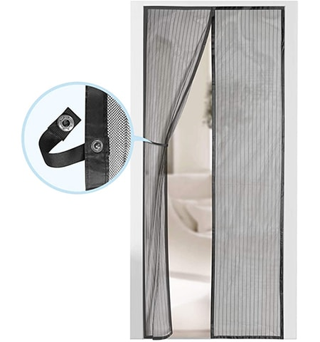 a magnetic screen door is a cheap screen door alternative that requires zero work to walk through it and close it again