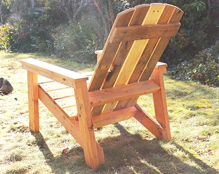 pallet adirondack chair with a flat seat
