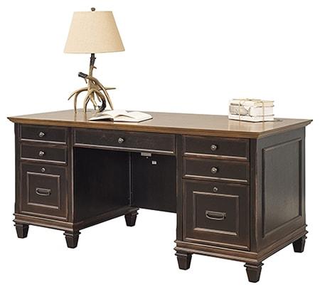 pedestal desks are a lot like executive desks but often have a larger desktop and ample storage drawers
