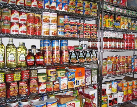 prepper food pantry