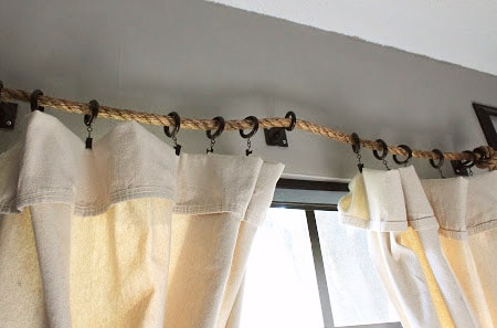 ropes make a unique alternative to curtain rods