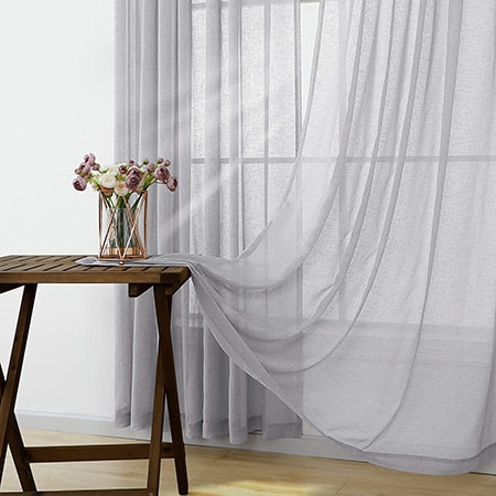 semi-opaque curtains are a mix between sheer and opaque options