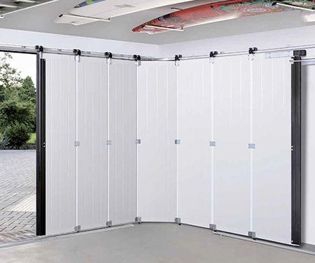 sliding garage doors are similar to the ones that move upwards towards the ceiling but these move to the side instead