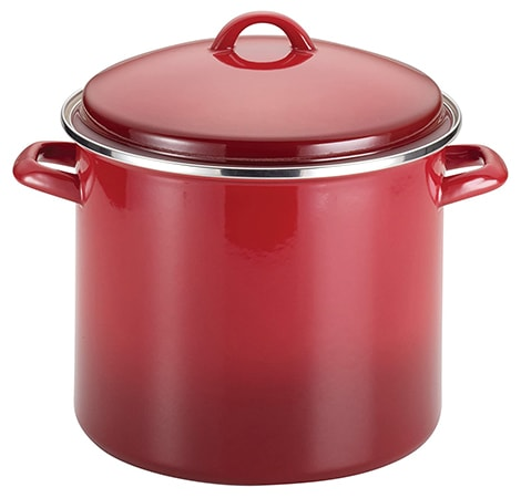 stockpots have a heavy bottom and tight lid, acting as a perfect dutch oven substitute
