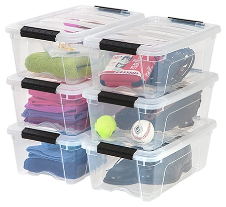 storage containers can hold your files like a cabinet would, but documents that you don't need frequent access to