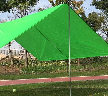 Telescoping tents are good temporary garage structures