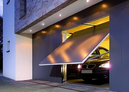 tilt-up garage doors are awesome alternative garage door designs that look futuristic and work the same as the old style