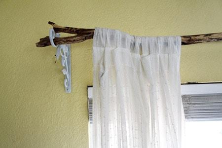 tree branch curtain rods alternatives