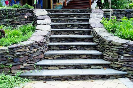 installing natural stone steps