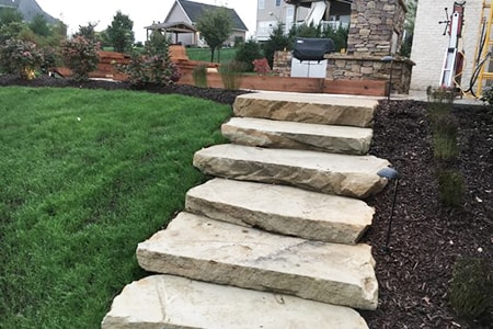 natural stone steps materials and plans