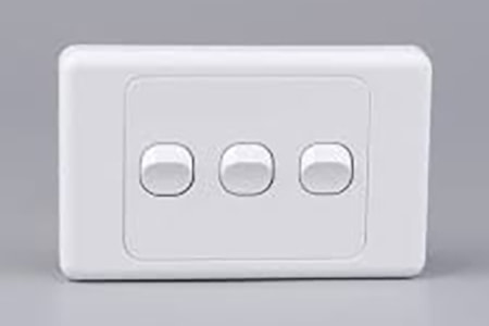 australian rocker light switches will feature three, four, or even six small switches on a single panel