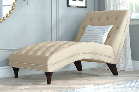 chaise lounge sofa is one of the coolest sofa designs that allows one person to recline a bit and stretch their legs out