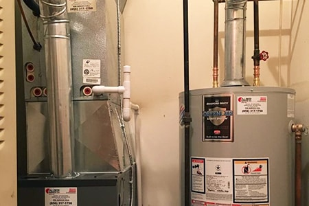 combined water heater and furnace