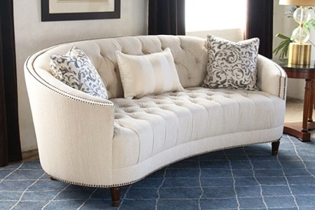 curved back sofa styles are very hip and modern