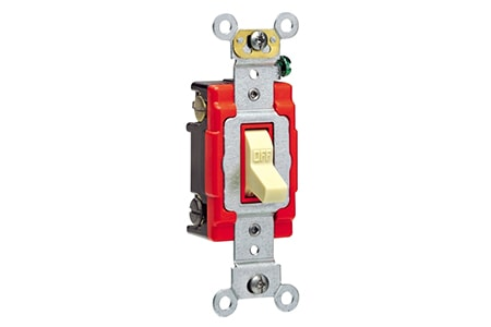 the double pole light switch is used in garages and more industrial settings for higher voltage appliances