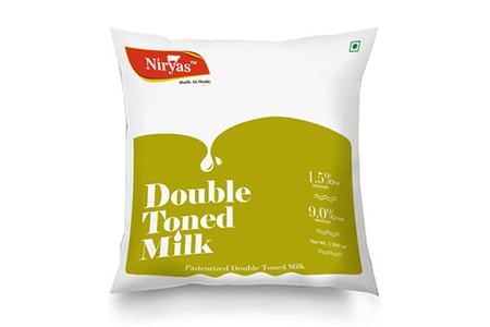 double toned milk is an ever lower fat content buffalo and cow milk mixture