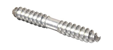 dowel screws have two threaded ends with no screw head