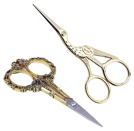embroidery scissors are specific kinds of scissors created for use in cutting cloth when creating clothing
