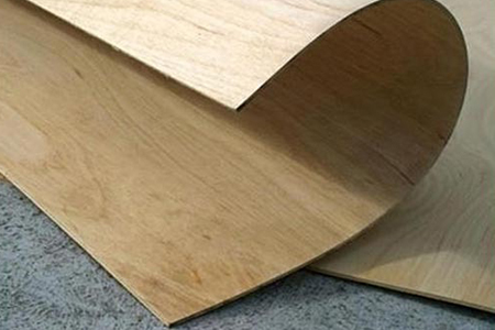 flexible plywood is bent and dried into shape