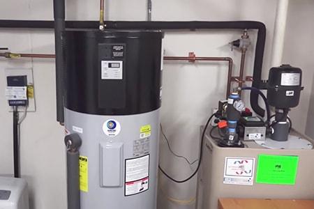 heat pump water heater types