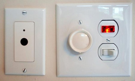 an illuminated light switch are types of light switches that feature small LED bulbs in them to act as a night light