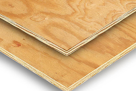 structural plywood is used to add strength to building frames and is then covered with other materials