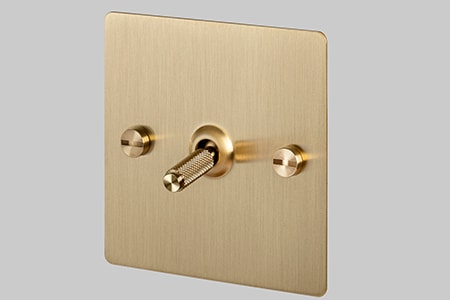 the toggle light switch is very similar to the common light switch styles you find in most houses today