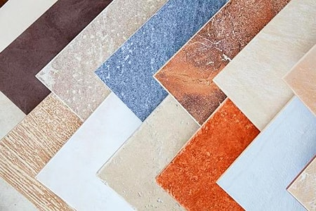 ceramic tiles are among the most common floor tile types