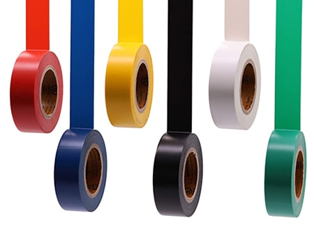 electrical tape are types of adhesive tapes that are designed to insulate against electricity conductivity