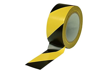 floor marking tapes are different types of tape used to bring attention to parts of the floor