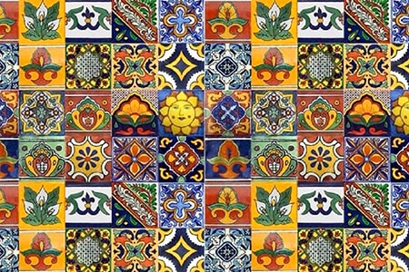 mosaic tiles are the most different types of tile in that they tend to feature images and colors that others don't