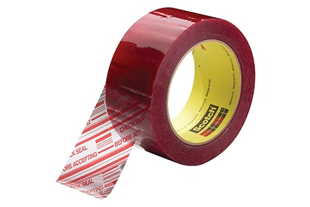 security tape is used to make sure nobody tampered with a box, envelope, door, or anything else