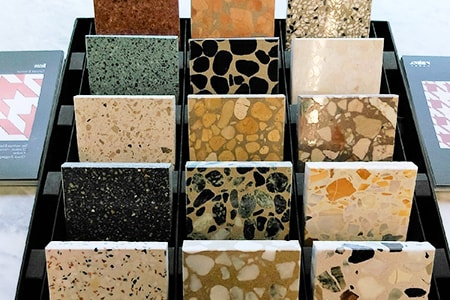terrazzo tiles have plenty of color options for interested home designers