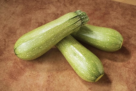 magda zucchini are visually distinct thanks to their pale green skin color