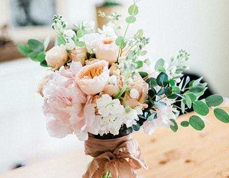 fresh flowers provide more scents than candles do and make for the perfect alternatives