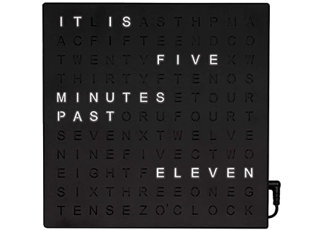 the electronic word clock has the most obvious clock names that describe the device perfectly