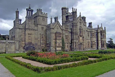 gothic castles had a more residential type of castle layouts