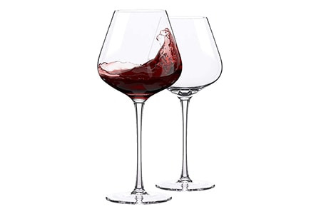 standard red wine glass