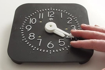 tactile braille clock
