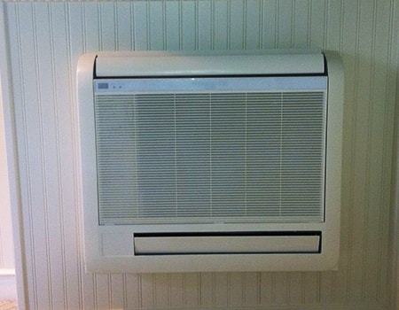 wall mounted ductless mini-split air conditioner are common aircon types in older apartments in bigger cities